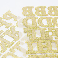 Tumble Dye Iron-On Glitter Letters - Urban Outfitters