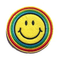 Rainbow Smiley Patch