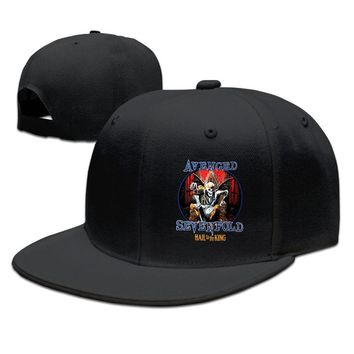 Avenged Sevenfold Hall To The King Printing Unisex Adult Womens Fitted Hats Mens Hip-hop Hats
