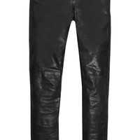 Saint Laurent - Leather skinny pants