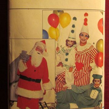 SALE Uncut Vintage Butterick Sewing Pattern, 4592! All Sizes/Adults/Men's/Women's/Clown Costumes/Santa Claus Costume/Old Saint Nick/Retro
