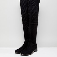 RAID Studded Flat Over The Knee Boots at asos.com