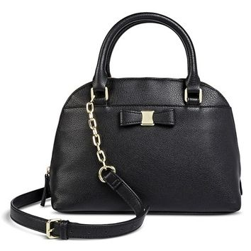 Satchel with chain detail and bow