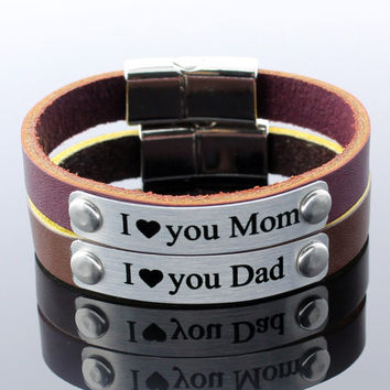 Couple Personalized Bracelets, Leather Bracelets, Matching Bracelets, Personalized Jewelry, Unisex Bracelet, Womens Bracelet, Mens Bracelet