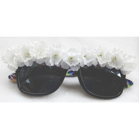 Flower sunglasses  by RadialWave on Etsy