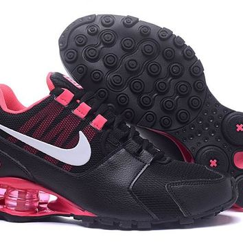 Women's Nike Shox Avenue 802 Shoes Black/Peach