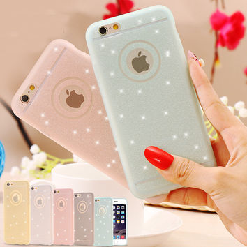 5S SE Fresh Lovely Silicon Case Bling Powder Matte Cover For Apple iPhone 5 5S 5G Phone Bag Women Lady Girl Shell For iphone 5s-004-05-Girllove100