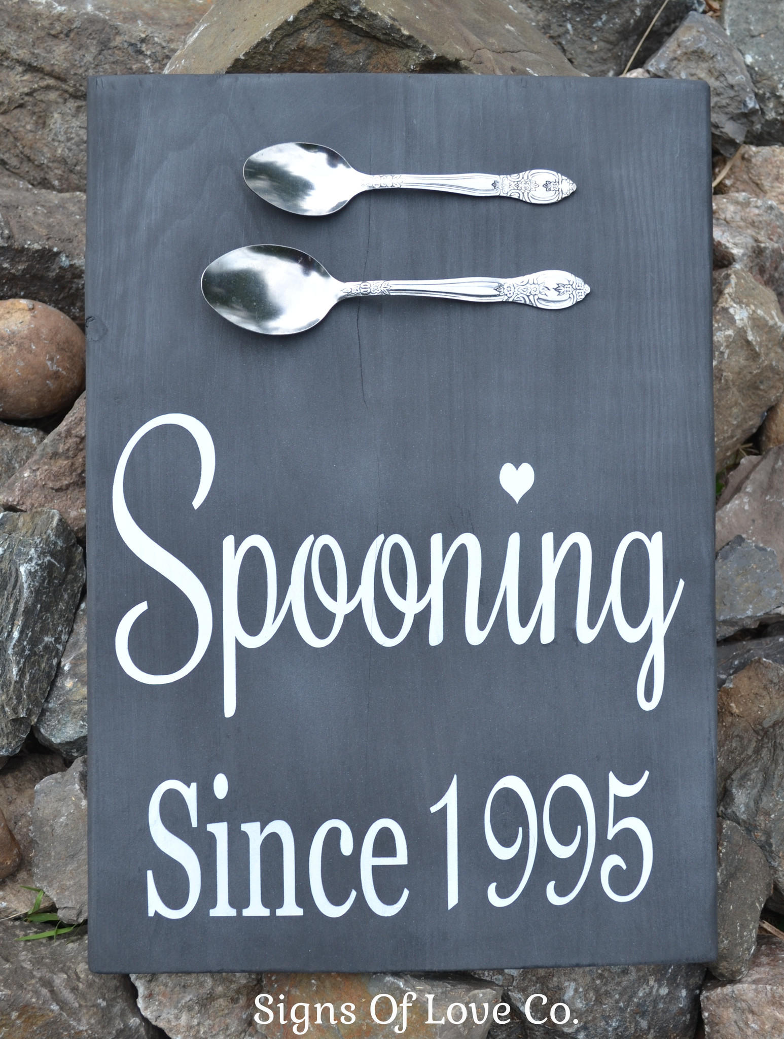 Chalkboard Spooning Since Wedding Sign From Dustin