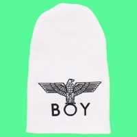 Women's White Boy London Slouchy Beanie by Boy London - ShopKitson.com