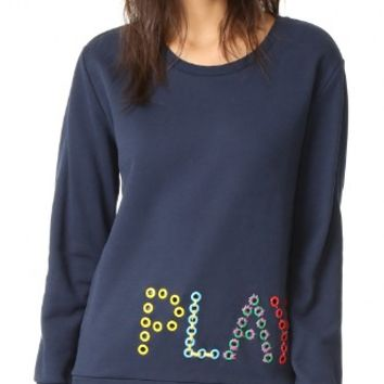 Play Eyelet Sweatshirt