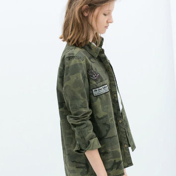 Summer Embroidery Camouflage Jacket [6512963783]