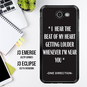 One Direction Lyrics R0263 Samsung Galaxy J3 Emerge, J3 Eclipse , Amp Prime 2, Express Prime 2 2017 SM J327 Case