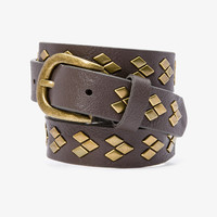 Arrowhead Studded Faux Leather Belt