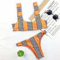 Striped Brazilian Bikini