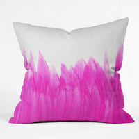 Allyson Johnson Pink Brushed Throw Pillow