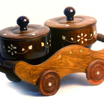Aakashi Trolley bowl set