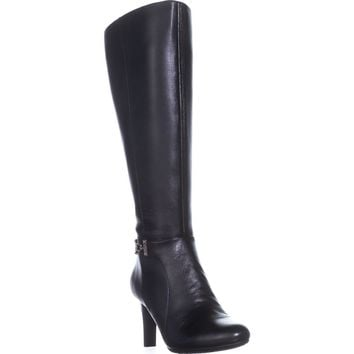 Bandolino Lamari Wide Calf Fashion Boots, Black, 9 US