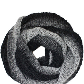 Unisex Ombre Snood in Black Grey – bandbcouture.com