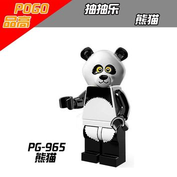 PG965 Legoing Movie Princess Limitation Animals Panda Building Blocks Toys for Children Compatible Legoings Friends Figures Boys