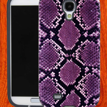 Purple Snake skin print,Accessories,Case,Cell Phone,iPhone 4/4S,iPhone 5/5S/5C,Samsung Galaxy S3,Samsung Galaxy S4,Rubber,27-11-3-Hk