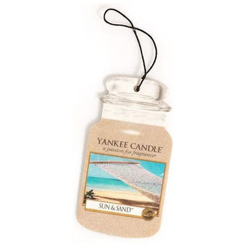 Sun & Sand Scent Classic Paper Car Jar Hanging Air Freshener by Yankee Candle