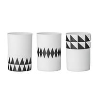 Bloomingville candleholder graphic triangles from Bloomingville by Bloomingville