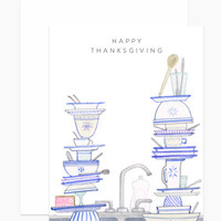 Thanksgiving Dishes Card