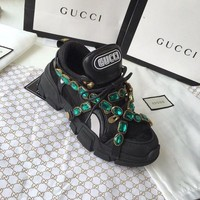Gucci Flashtrek Sneaker With Crystals 5 Colors-3