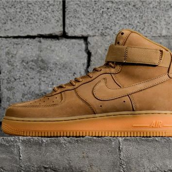 "Nike Air Force 1 High ""Flax"" 882096-200"
