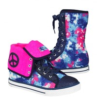 Dye Effect Fold Over Sneakers | Girls Pop Riot New Arrivals | Shop Justice