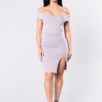 Million Dollar Walker Dress - Ash Lilac