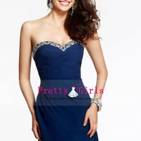 2015 Elegant A Line Short/Mini Homecoming Dress Open Back Sweetheart With Ruffles $146.99 PGDPMD4A6Z9 - PrettyGirlsDresses.com