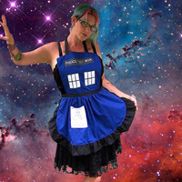 Police Call Box Apron Tardis Inspired Cosplay Costume