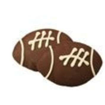 Football Cookies x 2 Size 3.5 inches