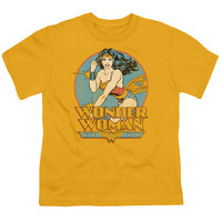 DC/WONDER WOMAN - S/S YOUTH 18/1 - GOLD -