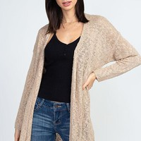 Get A Little Closer Cardigan - Taupe