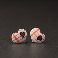Love Note Earrings, Valentines Day Jewelry, Romantic Gifts For Her
