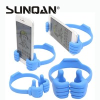 Universal Thumb-Shaped Plastic Mobile Phone Holder For iPad iPhone Sony Nokia HTC Huawei Samsung New Lazy Fashion Phone Stand