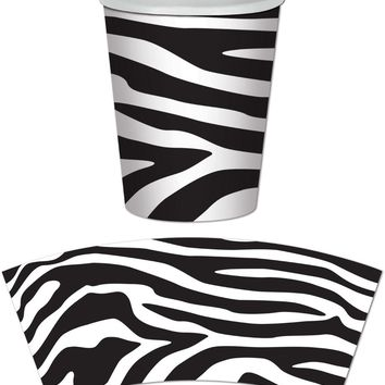 zebra print beverage cups Case of 24