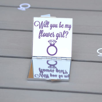 Will you be my flower girl? | Flower girl gift | Unique flower girl gift idea | Bridesmaid gift | Bridal party gifts | Wedding party favor