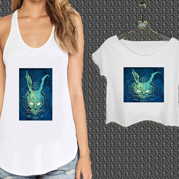 Donnie Darko s Frank For Woman Tank Top , Man Tank Top / Crop Shirt, Sexy Shirt,Cropped Shirt,Crop Tshirt Women,Crop Shirt Women S, M, L, XL, 2XL*NP*