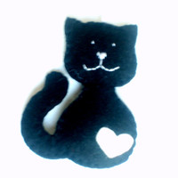 Smiling cat ornament - handmande felt ornaments - Christmas/Housewarming home decor - Baby shower - eco friendly - Christmas ornament