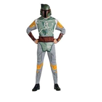 DCCKH6B Adult Star War Boba Fett Costume Space Station Superhero Soldier Costumes Printed Jumpsuit Holiday Cosplay Clothing Fancy Dress