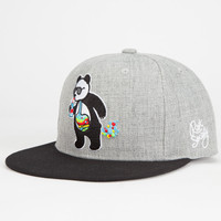 Riot Society Panda Bubble Boys Snapback Hat Gray One Size For Women 26490411501