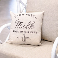 Farm Fresh Milk Pillow