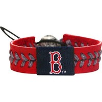 MLB Boston Red Sox Team Color Baseball Bracelet