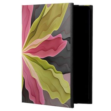 Joy, Pink Green Anthracite Fantasy Flower Fractal Powis iPad Air 2 Case