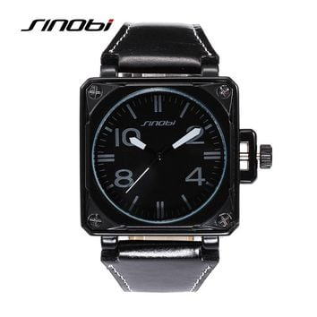 xx SINOBI fashion military sports waterproof leather men's watches
