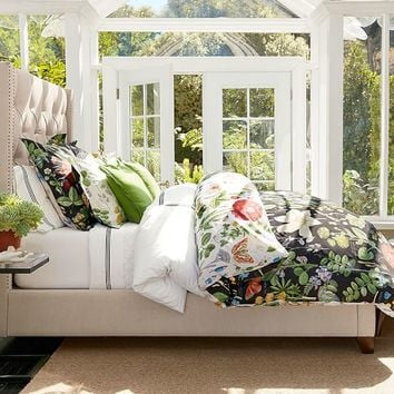 Poppy Botanical Reversible Duvet Cover & Sham