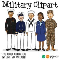 Military Clipart | Army, Navy, Marines, Air Force, Coastguard